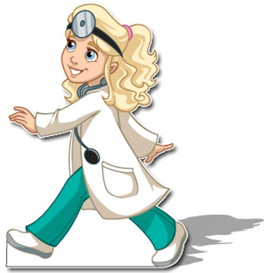 doctor girl stand up creative for kids