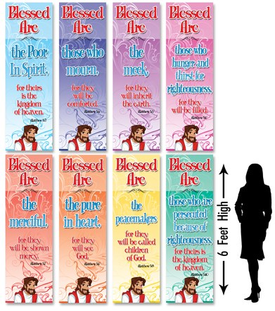 Beatitudes Blessed Are Banner Set Creative For Kids