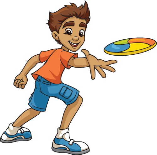 Image result for kids playing frisbee clipart