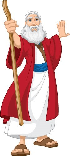 Moses With Staff Creative For Kids