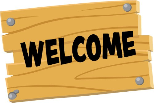 Wood Welcome Sign: Creative for Kids