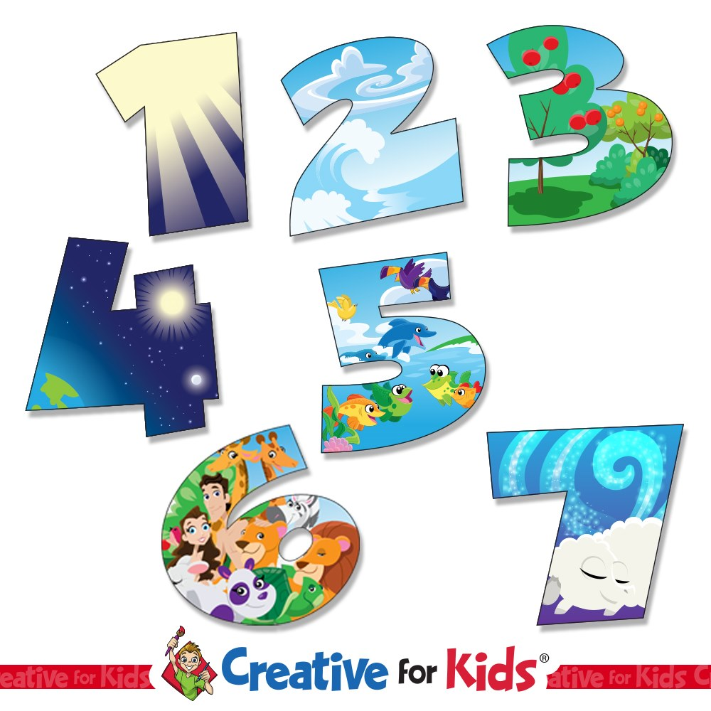 7 Days Of Creation Wall Decals Creative For Kids